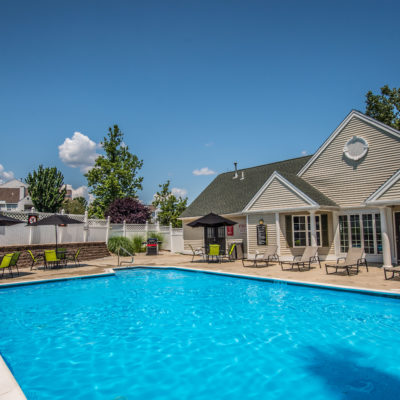 luxury apartments with a pool in middletown ct pool area