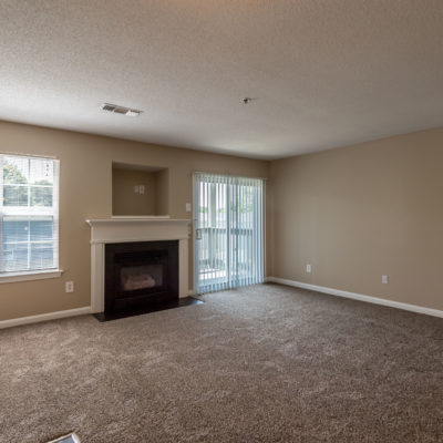 Apartment living room with a fireplace in middletown ct