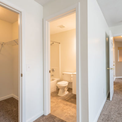 Large walk-in closets in master bedroom at Windshire terrace apartments