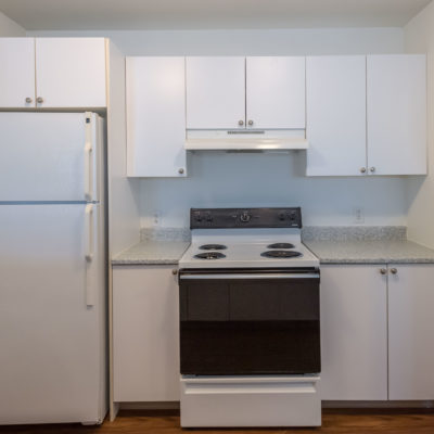 Updated countertops in the kitchen of Windshire terrace apartment